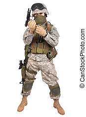 katona, fehér, kézifegyver, háttér, bennünket