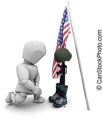 katona, hűbér, bukott