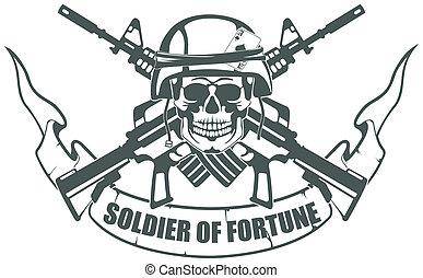 katona, közül, szerencse