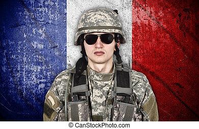 katona, lobogó, franciaország