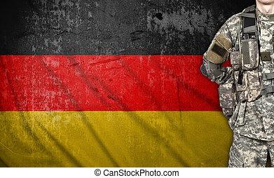 katona, lobogó, németország