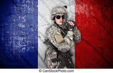 katona, pisztoly, karabély