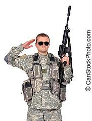 katona, támadás kirabol