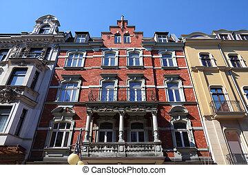 Katowice, Poland - vintage apartment building, old landmark