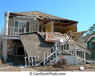 a front door after Katrina came knocking