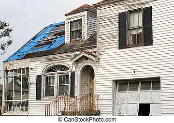 katrina, orkaan, beschadigen