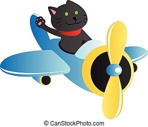 katt, en flygmaskin