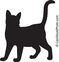 katt, vektor