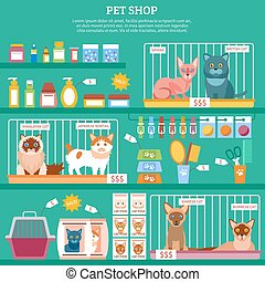 katter, begrepp, illustration