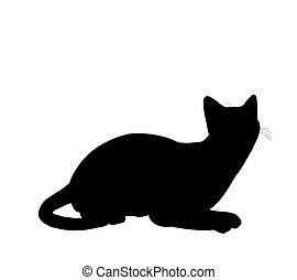 katzen silhouette lustiges ber silhouette abbildung katzen posen typisch. Black Bedroom Furniture Sets. Home Design Ideas