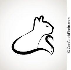 katz, elegant, logo, vektor