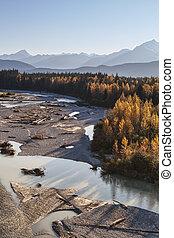 Katzehin river in fall