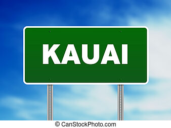 Kauai Highway Sign