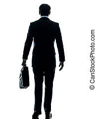 kaufleuten zürich, gehen, hintere ansicht, silhouette