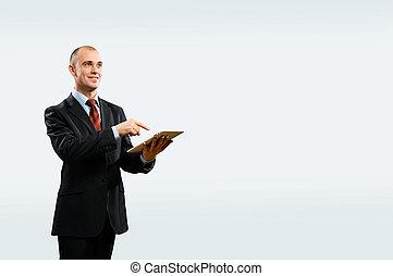 kaufleuten zürich, gleichfalls, arbeitende , mit, tablette