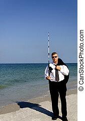 kaufleuten zürich, mit, fischen pole