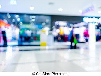 kaufmannsladen, verwischen, hintergrund, mit, bokeh