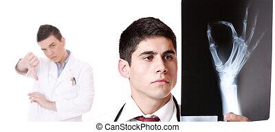 kaukasisch, mannelijke arts