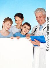 kaukasisch, oud, arts, patiënt