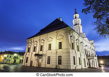 Kaunas City Hall at dawn