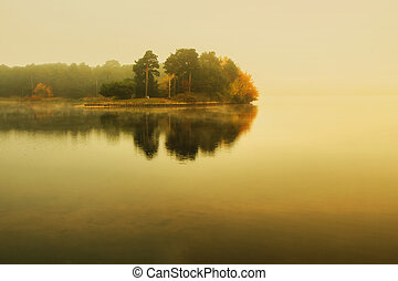 Kaunas Lagoon - Lithuanian landscape come the fall when the ...