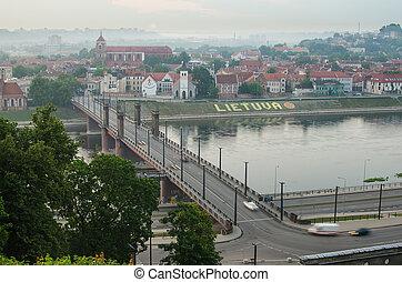 Kaunas (Lithuania) in the fog