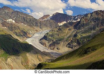 Kauner valley Gepatschferner glacier
