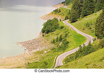 Kauner valley glacier road 11