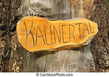 Kauner Valley Sign 01