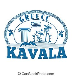 Kavala, Greece stamp or label