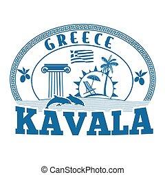 Kavala, Greece stamp or label