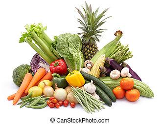 kavels, groentes