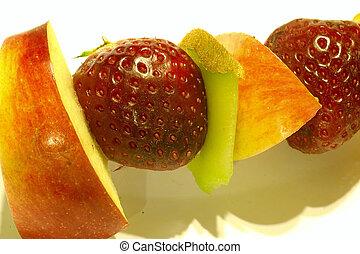 kavels, van, fruit