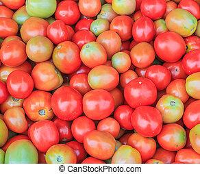 kavels, van, tomaten, in, de, winkel