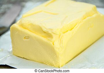 kawał, od, masło, na, papier