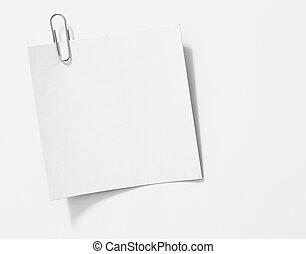 kawał, od, porwany papier