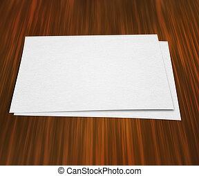 kawał papieru, na, stół