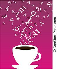 kawa, beletrystyka, filiżanka
