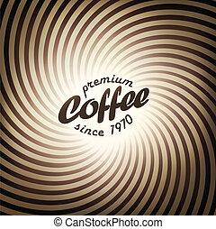 kawa, eps10, abstrakcyjny, wektor, tło, projektować, template.