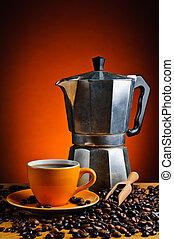 kawa, espresso