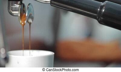 kawa, lał, filiżanka