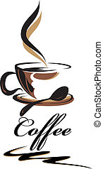 kawa, piękno, filiżanka
