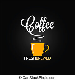 kawa, projektować, smak, tło, filiżanka