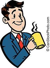 kawa, rysunek, handlowiec