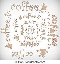 kawa, wektor, abstrakcyjny, tło