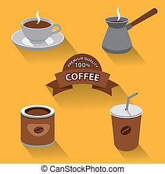 kawa wystawiają, ikona