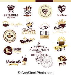 kawa wystawiają, symbole, ikony