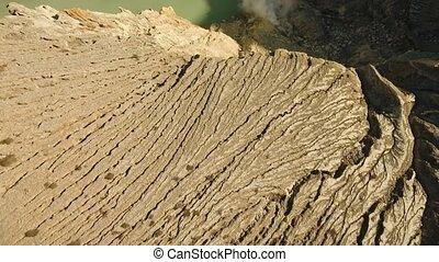 Kawah Ijen, Volcanic crater, where sulfur is mined. - Kawah...