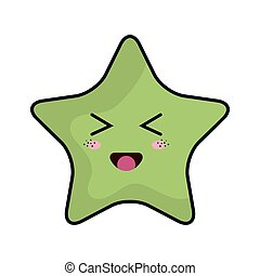 kawaii, étoile, dessin animé