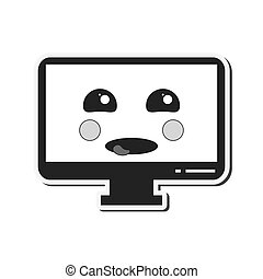 kawaii, ηλεκτρονικός εγκέφαλος απεικόνιση